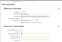 DNN GlobalStorage Windows Azure DNN Folder Provider Settings